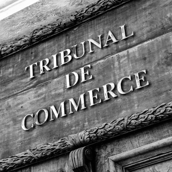 Commercial Court of Aix en Provence black and white